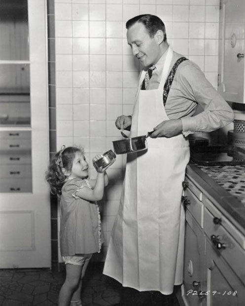 Jack Benny with daughter Joan