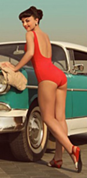Classic cars and pinups