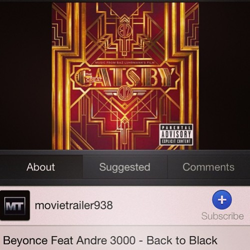 Feel the thrill #gatsby #dope #beyonce #andre3000 #backtoblack