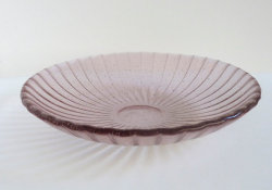 Fused Glass Rippled Bowl in Pale Amethyst by bprdesigns