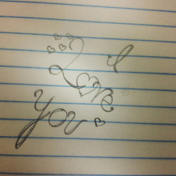 Drew this because you are my everything