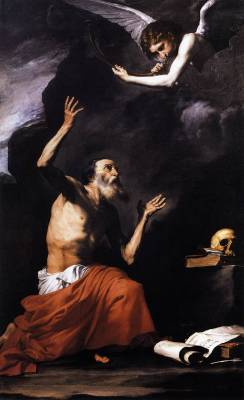 cavetocanvas:  Jusepe de Ribera, St. Jerome and the Angel, 1637