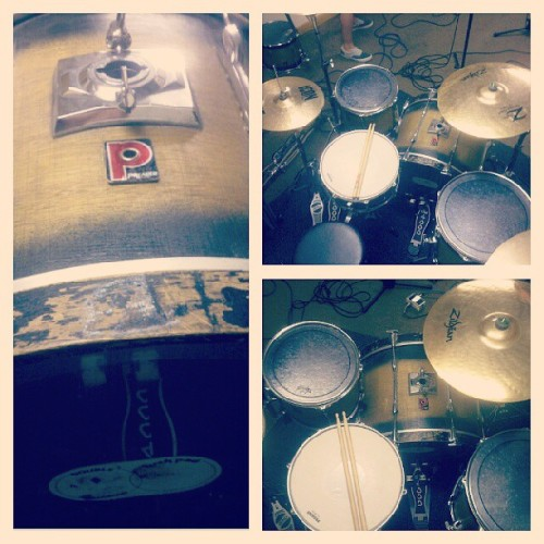 Played the oldest premier kit today #premier #drums #poppunkisntdead #music