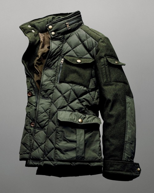 beyondfabric:  Moncler x Bergdorf Goodman 111th Aniversary Rodriguez Field Jacket  that quilt and multitexture