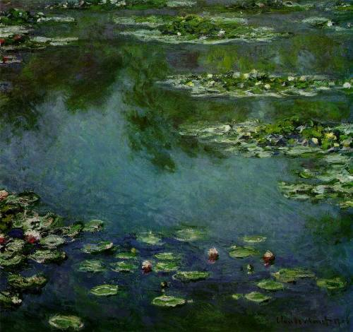 c0ntigo:  museumuesum:  Claude Monet Water Lilies, 1906 Oil on canvas, 34 1/2 x 36 1/2 inches (87.6 x 92.7 cm)   Monet is da bomb.com 4shizzle