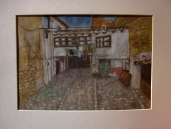 Alley. Tafalla, Spain. Watercolour on kraft paper. 29 x 20 cm.