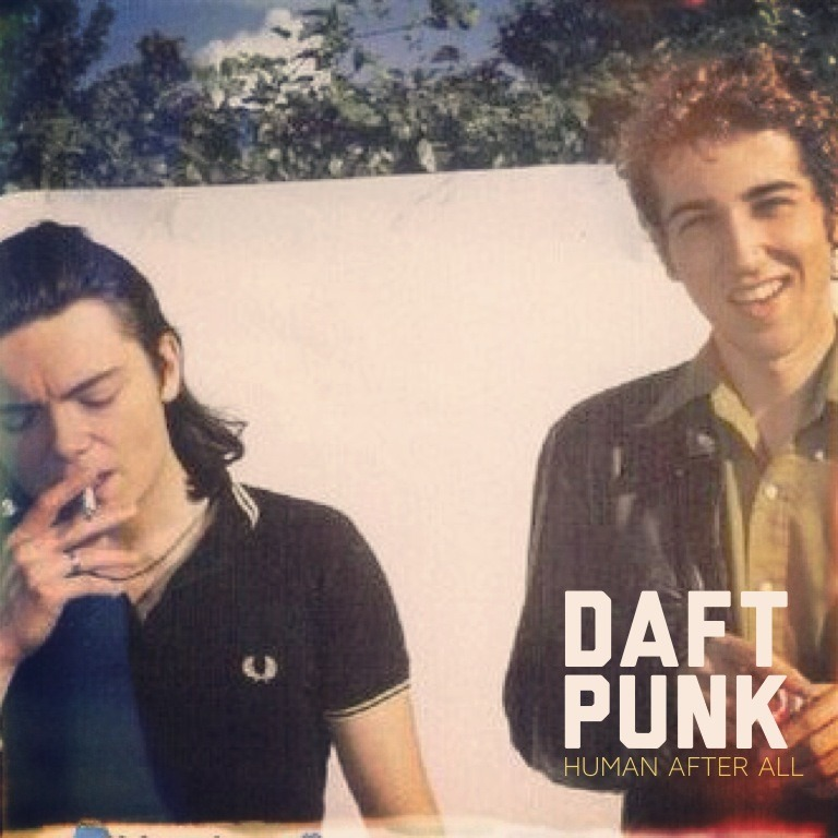 theonlymagicleftisart:  Found this picture of Daft Punk when they were young and decided to make a mock-up album cover. Follow me on Instagram.