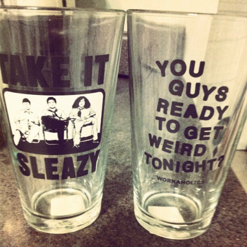 Literally the best cups I will ever own. #workaholics #takeitsleazy #getweird