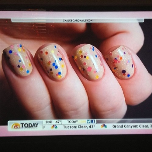 chalkboardnails:  My nails on The Today Show this morning! Absolutely crazy insane awesome!