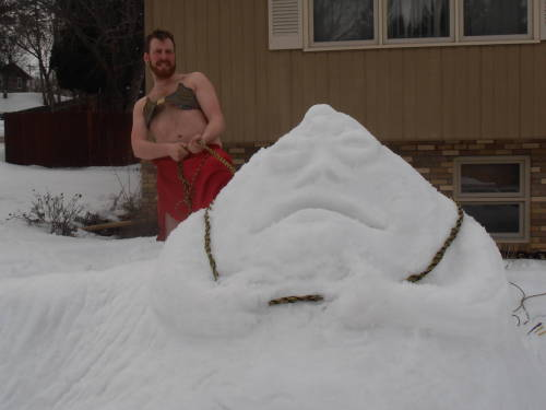 What you do when you are bored, snowed in and a Star Wars fan.