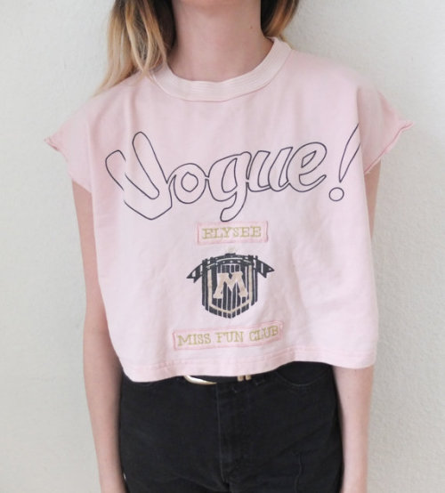 pastelbmob:  Vintage Vogue Crop Top €45.00