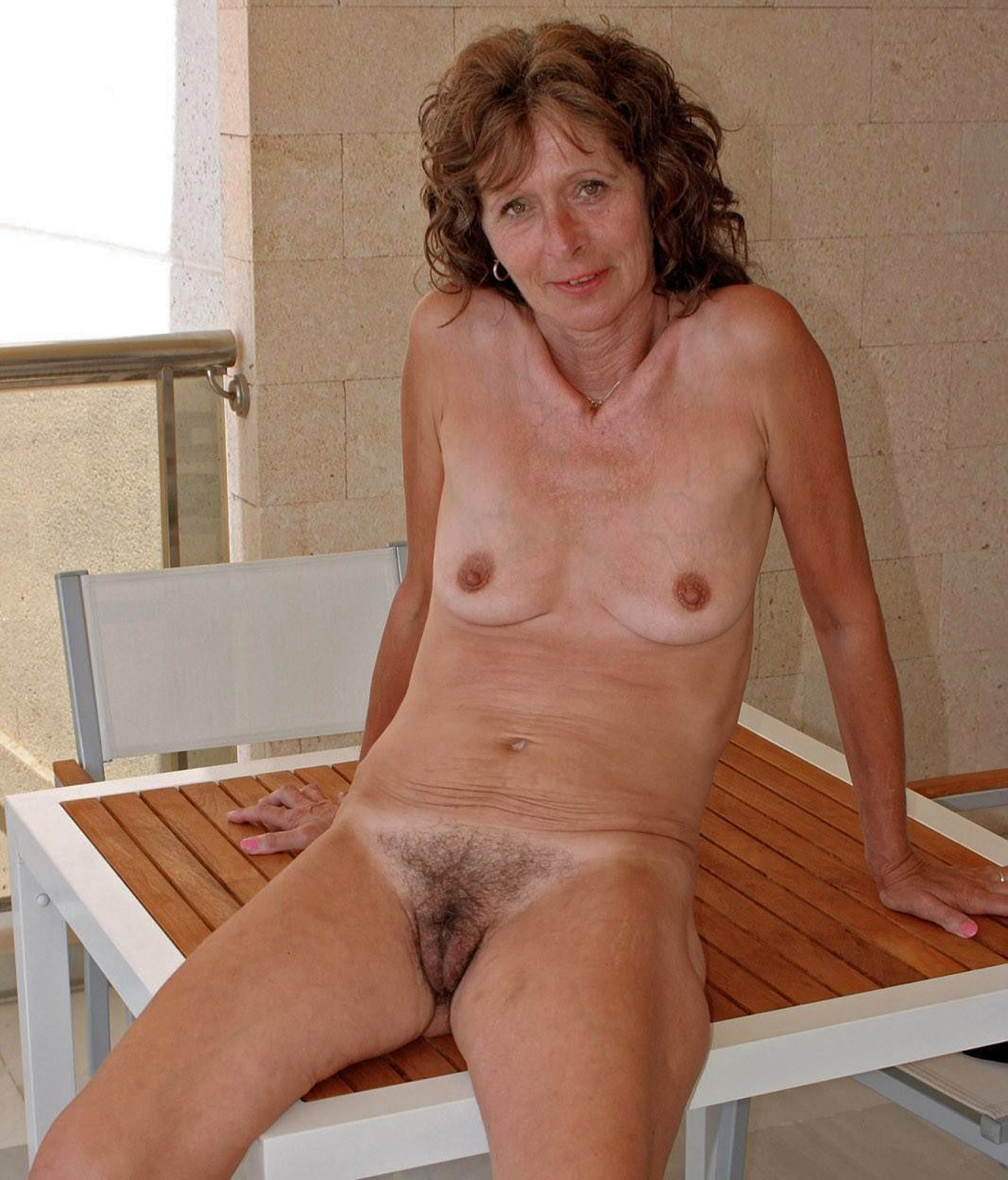 Mature women with small saggy breasts