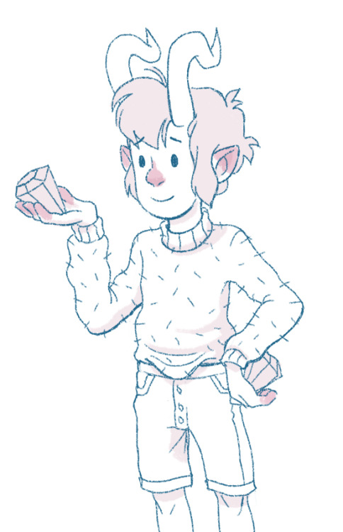 This was from a panel from a comic, look at this little crystal nerd.