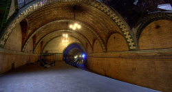 The abandoned City Hall subway station, New York