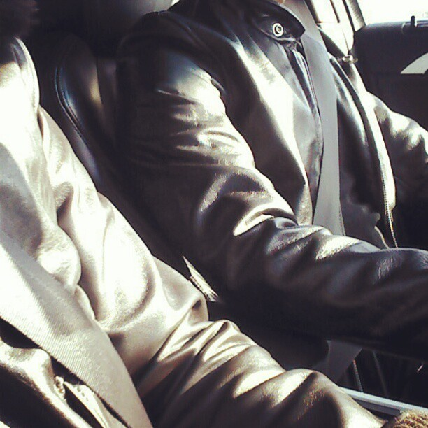 Too much leather in this car #wiwt