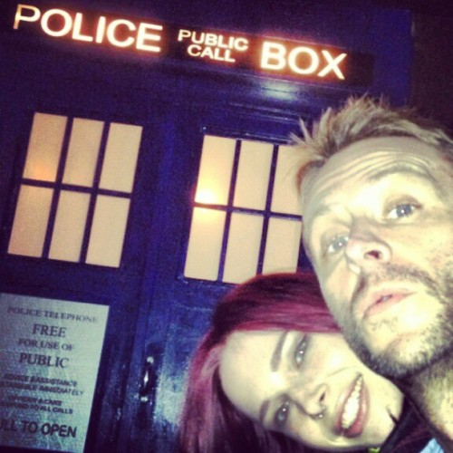 nerdist:  TARDIS at The Way Station in Brooklyn. It's the entrance to the bathroom. DON'T BLINK (or you'll pee on the floor).