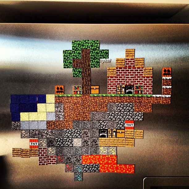 Minecraft fridge! ❤