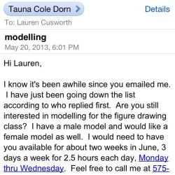 Just got accepted to model for figure drawing at nmsu😳😄 we'll see how that goes!