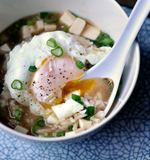 foodopia:  miso soup with rice and poached egg: recipe here
