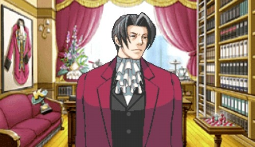 puzzleflowers:  miles edgeworth's potted plant has a cravat #miles edgeworth #this man is incredible  #loren im keeping that tag