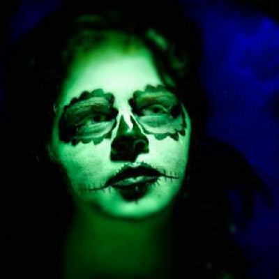 #spooky #green #sugarskull #gothic #greeneyes #gothic #halloween #horror #dark #creepy #winning #picoftheday #fashion #bbw #macabre #makeup #blue #labret #tattoo #tattoos #rockabilylife #rockabilystyle #rockabilly #redhead