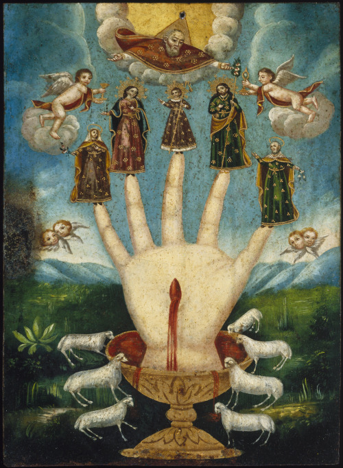 La Mano Poderosa— the Powerful Hand, also known as Las Cinco Personas. No doubt this is an image familiar to many of my followers, but it is always so striking to look at. The work of an anonymous artist of the 19th century, on display at the Brooklyn Museum.