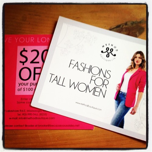 Calling all #tallwomen want to get $20 off an amazing online store @MethodBoutique ? Contact me for more details. #fashion #tallfashion #local #shoplocal #womenentrepreneurs