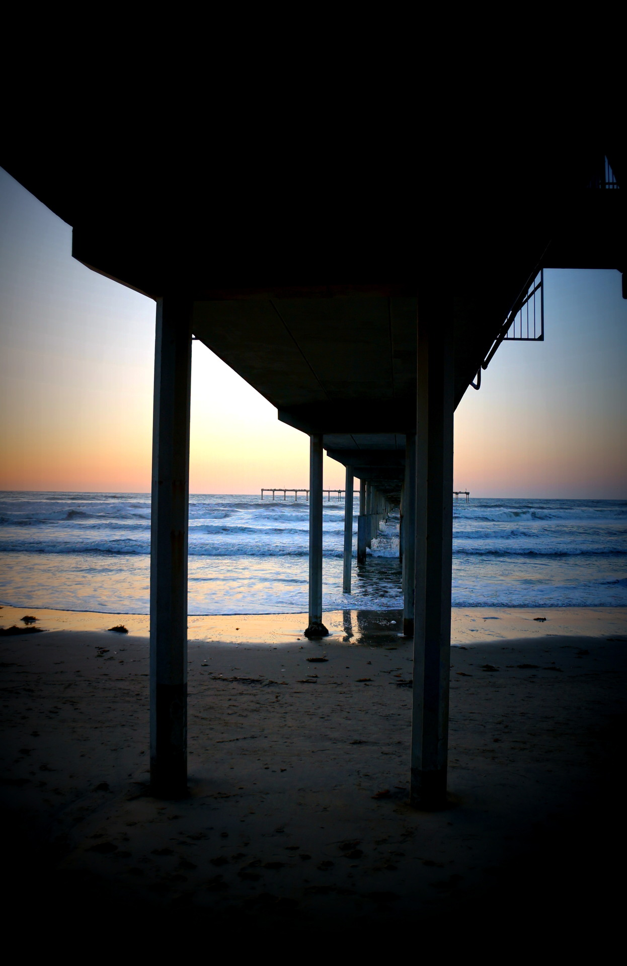 Pier at Sunset. Ocean Beach, San Diego, CA