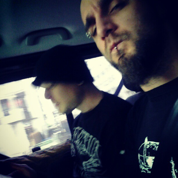 with phill anselmo on the way to lille