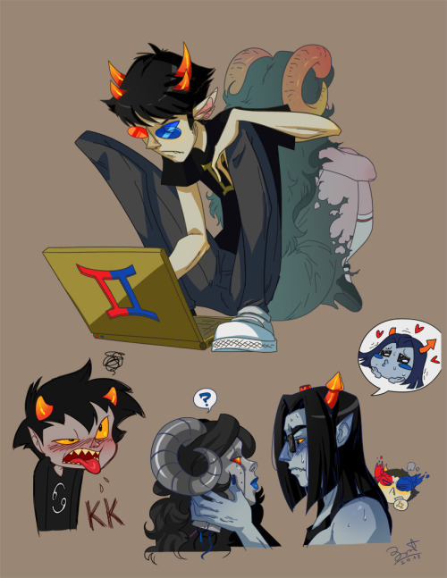 ladybrot:  Homestuck sketchs because of reasons.