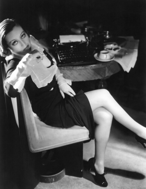 "(via Joan Crawford - as a secretary in ""Grand Hotel"" 1932 