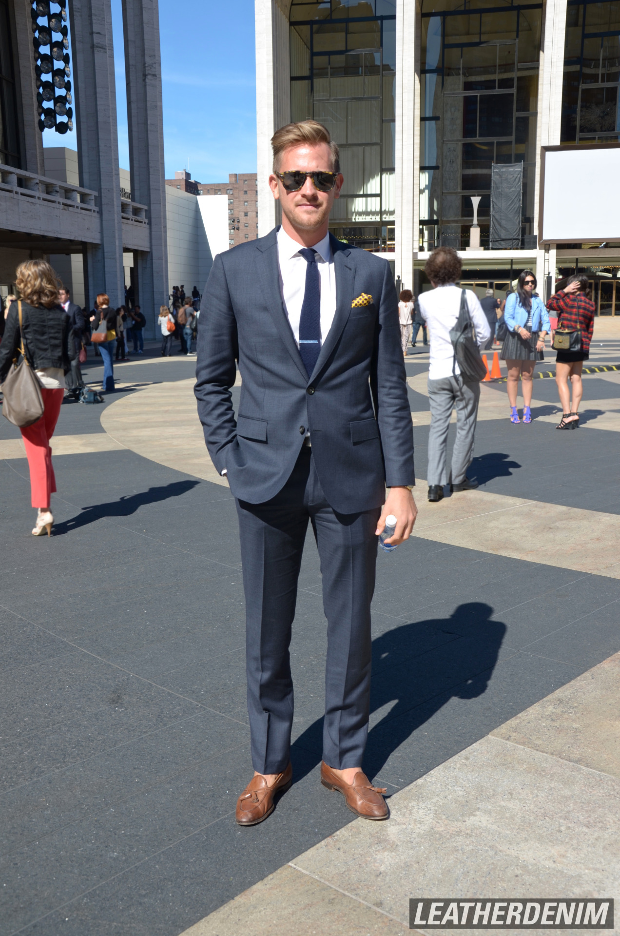 leatherdenim:  Suit Swagger. Lincoln Center. NYFW SS 2013 NEW YORK CITY