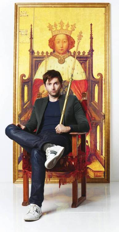 "doctorwho:  David Tennant to take on 'challenge' of Richard II for Royal Shakespeare Company  David Tennant is to return to the Royal Shakespeare Company to play Richard II, five years after audiences and critics hailed his performance as Hamlet.    The production headed by the former Doctor Who star leads off a winter season at the RSC that includes the world premiere of the stage adaptations of Hilary Mantel's Wolf Hall and Bring up the Bodies. Doran said the part would be a ""challenge"" for Tennant. ""Of course Hamlet was a challenge, it's the Everest,"" he said: ""Richard II is written entirely in verse. He has no problem with verse. He breathes it, he makes it sound as if it is completely effortless."" The artistic director said the principal challenge for Tennant's Richard II will be ""the sense of the man's volatility, fragility; that psychology is more alien to David's character""     #FUCK YES #il Gregory Doran sfm #and he's got David Tennant again #and they're actually talented enough to be able to pull off a good Richard II auugh oh i am so fucking stoked this whole season sounds fab oh my gawd"