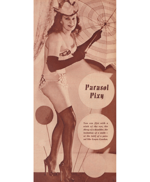 Laura Gordon in Beauty Parade, December 1946. Vintage Scans
