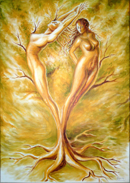 The tree of love, scrylics on canvas painting