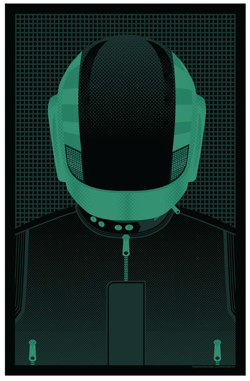 "My piece for Bottleneck Gallery's ""I Love You Man"" show is now available online. ""Daft Bros""Limited Edition set of 503 Color Screen PrintsBoth 11x17$30 Get it HERE!"