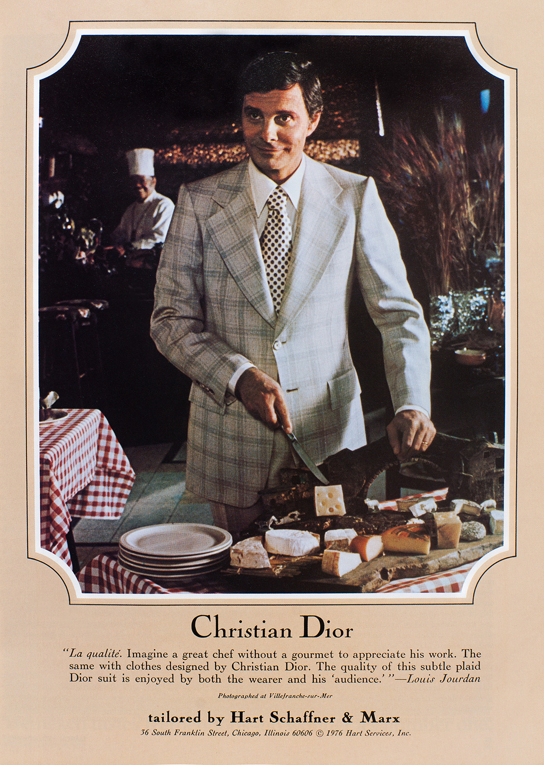 Christian Dior Advertisement - Gourmet: March 1976