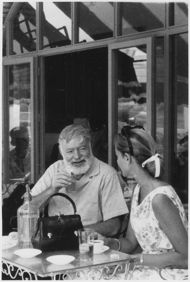 scrapzion:  Ernest Hemingway with Lauren Bacall in Spain. ca. 1956 - ca. 1959.