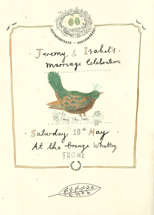 kattfrank:  An idea for a wedding invitation.