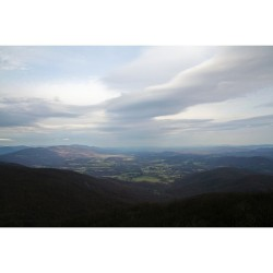 The subtle beauty of the Blue Ridge Mountains.  (at Humpback Rock)