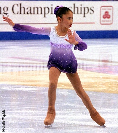 Beatrisa Liang skating her free program at the 2000 Junior US Nationals.