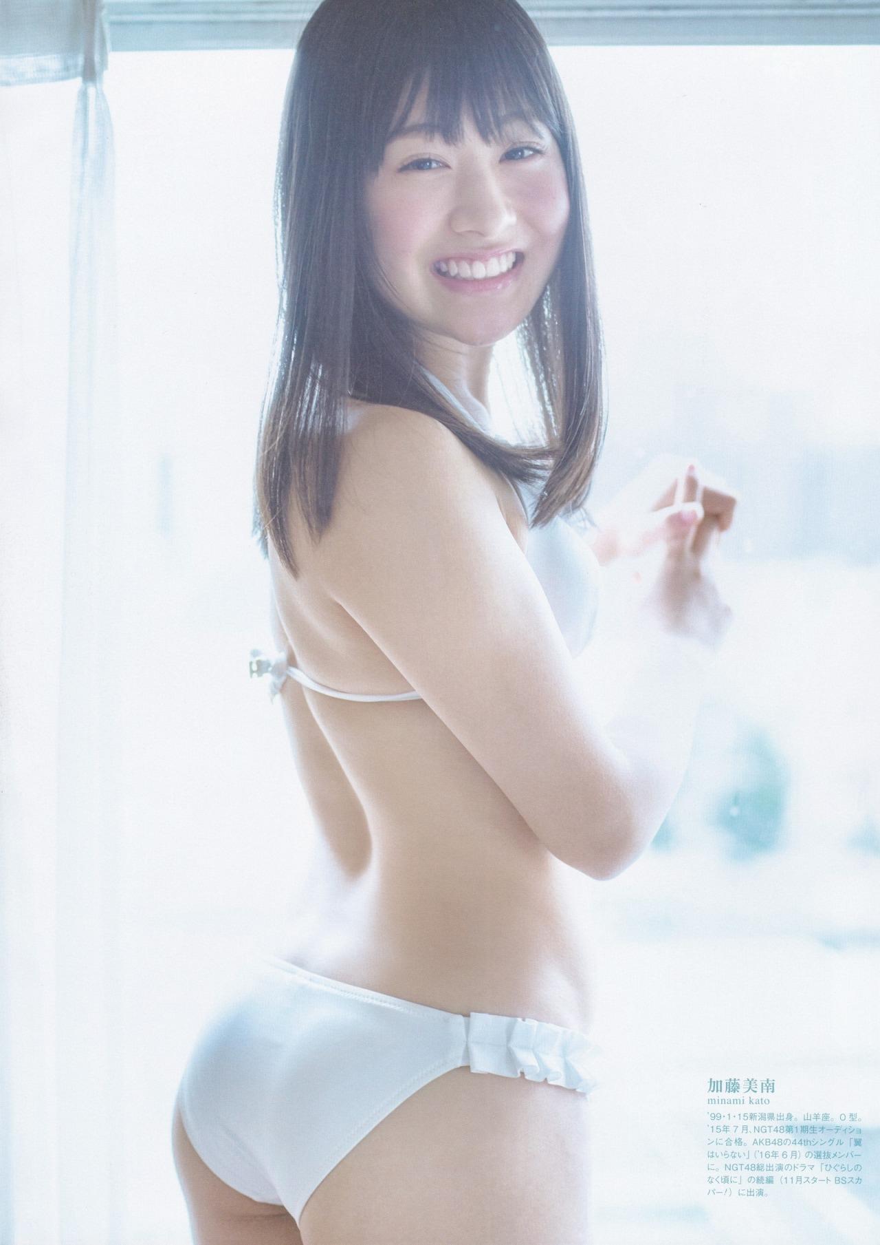 笑顔で振り返る加藤美南