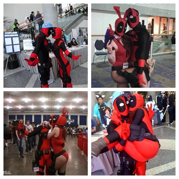 One more fuckin week!! #deadpool #lovepool #fanime #fanservicepool #buttpool ##marvel #cosplay