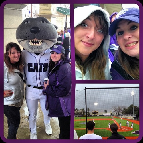 Braving the rain for some #kstate baseball!