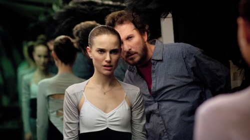 skinnyminnieballet:  Darren Aronofsky and Natalie Portman on the set of Black Swan
