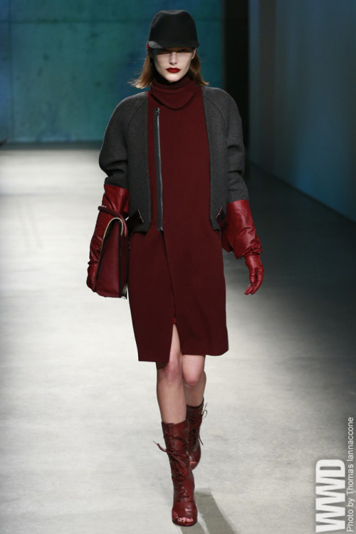 womensweardaily:  Kenneth Cole Collection RTW Fall 2013 It has been 30 years since the designer got started selling shoes from a truck, and seven since he last showed on a runway during New York Fashion Week.  For More For all WWD.com's RTW coverage