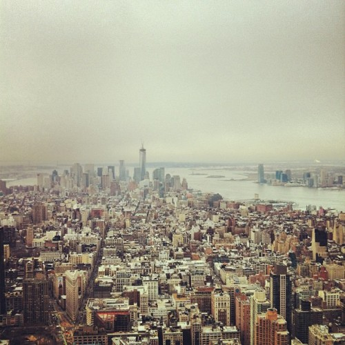 View from Empire State Building #tourist #nyc #attraction  (at Empire State Building 86th Floor Observatory)