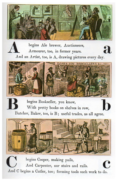 See the entire 1850 Occupational Alphabet here.
