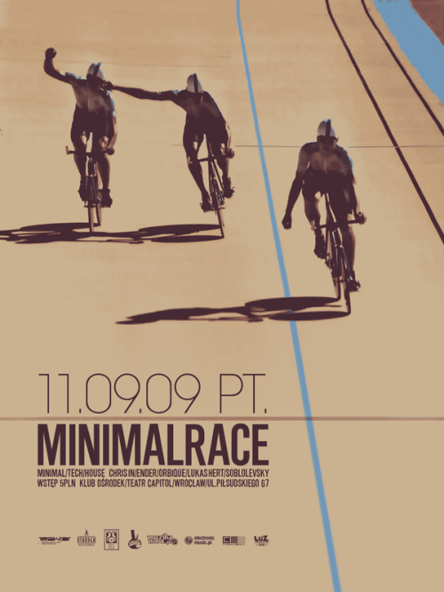 Poster for MINIMALRACE party. 11.09.09