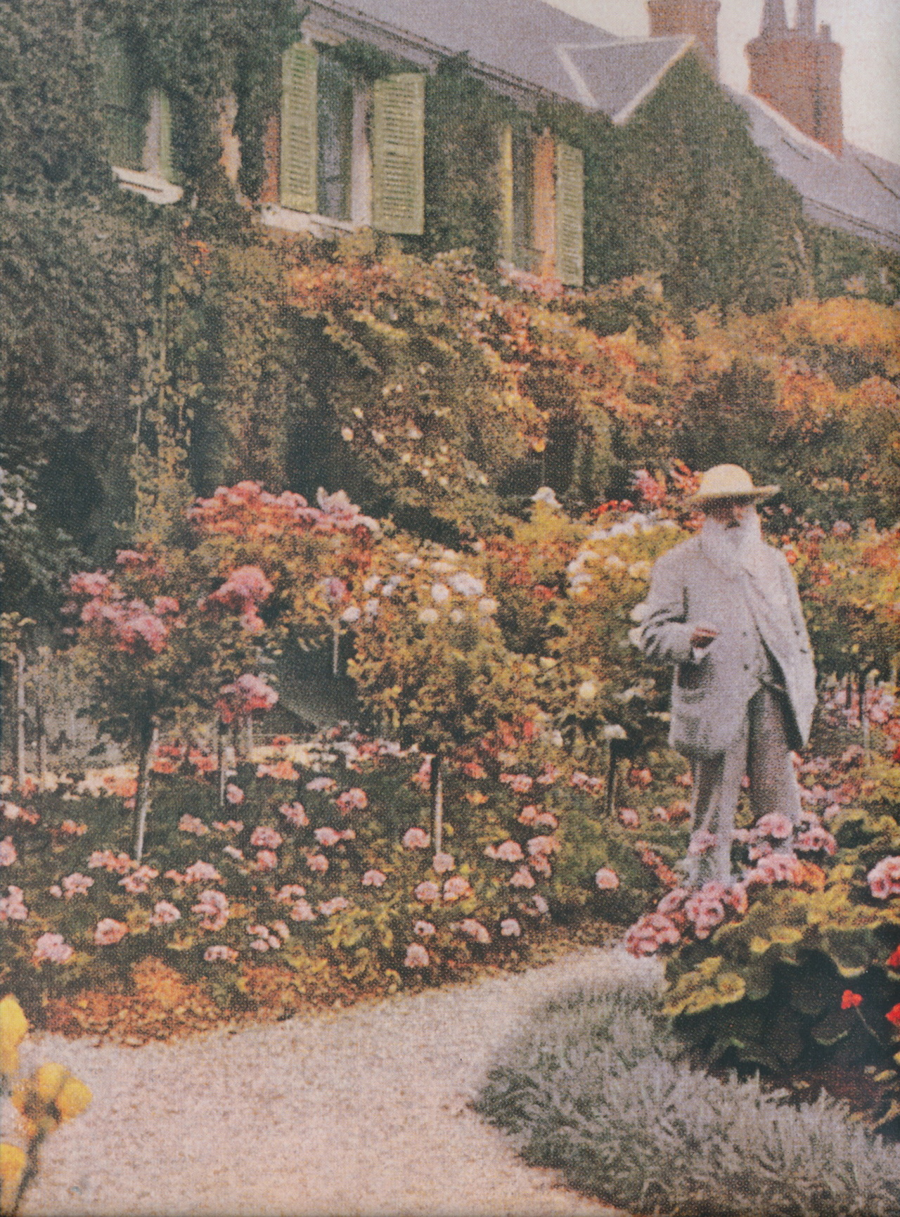 bartleby-company:  claude monet in giverny, date unknown